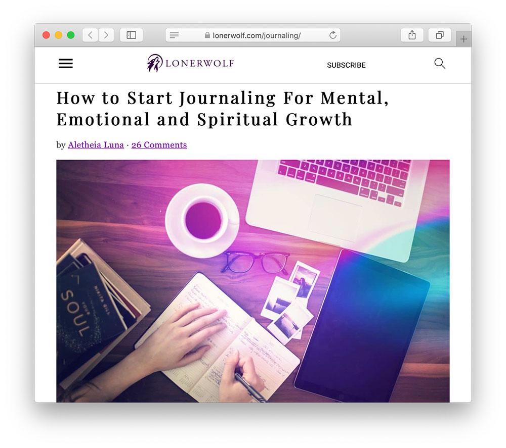 journaling lonerworlf