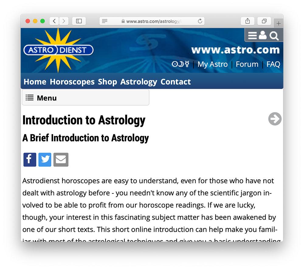 astro dienst